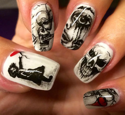 Horror NailArt Sticker Nagelsticker Nageldesign Tattoo 00030- 20 Stück