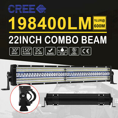 20inch+7in CREE LED Light Bar Spot Flood Driving Lamp Offroad 4WD 4x4 Truck SUV