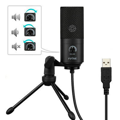 FIFINE K669 USB Verdrahtet Mikrofon Mic Aufnahme Funktion for Windows / Mac OS
