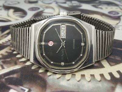 Rado Voyager Vintage 1970s Stainless Unisex Automatic Swiss Watch EX4-Serviced