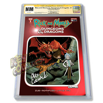 Rick & Morty vs Dungeons & Dragons #1 Cormack RED CHROMIUM FOIL VARIANT - CGC SS