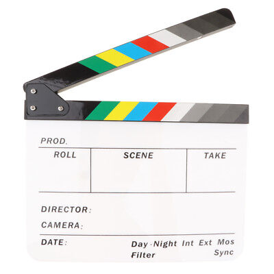 TV/Movie Director Clapperboard Film Action Scene Cut Clapper Board Role Play