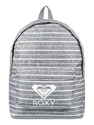 Roxy Womens Backpack Bag.sugar Baby Grey Striped Rucksack.school 16L 8W 31 Sgrh