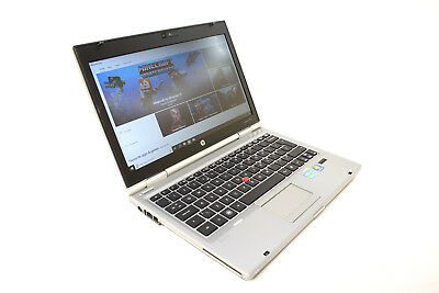 "HP 2560p Laptop 12.5"" Intel I7 2.7Ghz 8GB 480GB SSD Windows 10 webcam DVD"