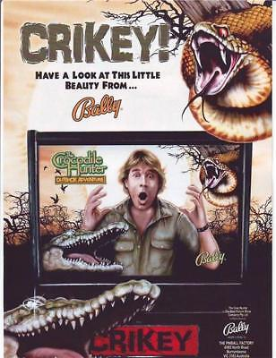 Bally The CROCODILE HUNTER Outback Adventure Original Pinball Machine Flyer Rare