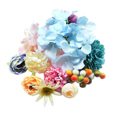 30x Assorted Artificial Silk Flowers Heads for DIY Wedding Party Table Decor