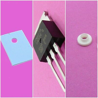 MOSFET N-Channel Transistor TO-220 with Transistor Pad & Nylon Washer Sheet Ring