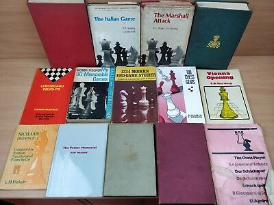X14 Vintage Chess Books Chess Player Help Books Bundle Job Lot ALL LISTED