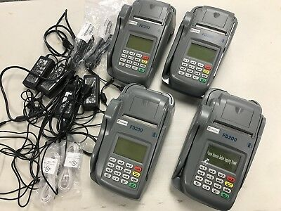 Lot Of 4 First Data FD200 Credit Card & Check Terminal POS