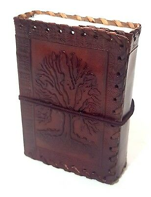 Asri Leather Bound Journal - Tree Of Life Handmade Paper Embossed Leather Diary