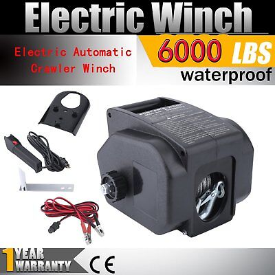 Remote Control Detachable Electric Winch 12V 6000lbs Automatic Crawler Winch