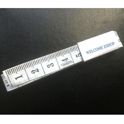 """White Body Tape Measuring Ruler Sewing Tailor Tape Measure Soft Flat 60""""/150cm"""
