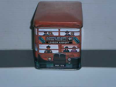T1754 Collectable Double Decker Bus Empty Tin