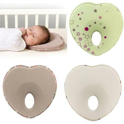Soft Baby Cot Pillow Infant Baby Support Cushion Pad Prevent Flat Head Support