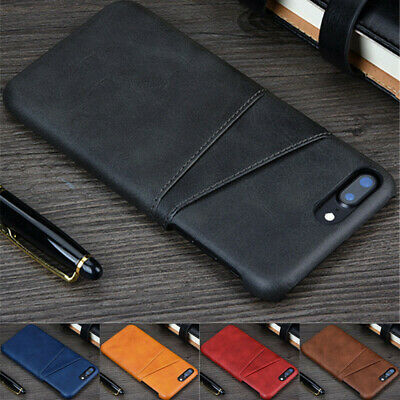 For Apple iPhone 6 6s 7 8 Plus Wallet Credit Card Slot Leather Case Back Cover