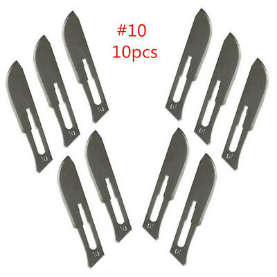 10pcs #10 Stainless steel Surgical Scalpel Blades School PCB Veterinary Practice