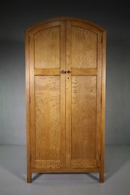 Heals of London 1930's Dome Top Oak Wardrobe