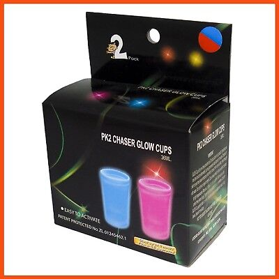 48 x GLOW IN THE DARK CHASER SHOTS 36ml | Party Parties Shot Glasses Celebration