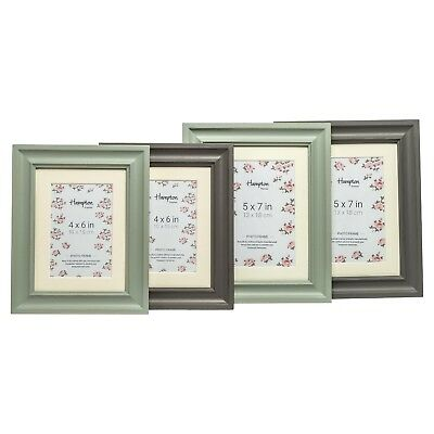 Rustic Shabby Chic Distressed Photo Picture Frame & Mount In Soft Sage Or Grey