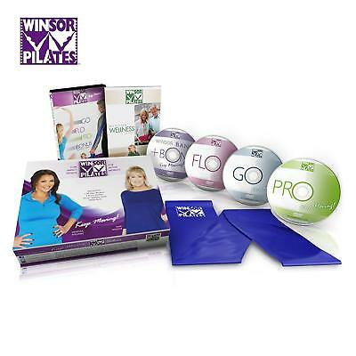 4 Winsor Pilates Power Sculpting with Resistance DVD lot, Advanced abs and more!