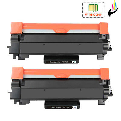 TN760 High Yield Toner with Chip for Brother DCP-L2550DW HL-L2350DW L2390DW 2395