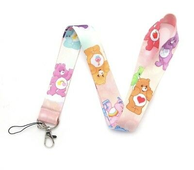 Care Bears Lanyard Keychain Cheer Bear Colors Collectibles pink