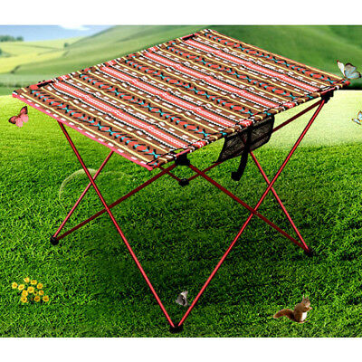 Vintage Oxford Portable Folding Camping Picnic Roll up Table with Carry Bag