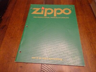 Full Size Promotional Products Zippo Lighter Catalog 2000 Unused