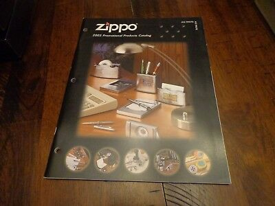 Full Size Promotional Products Zippo Lighter Catalog 2005 Unused