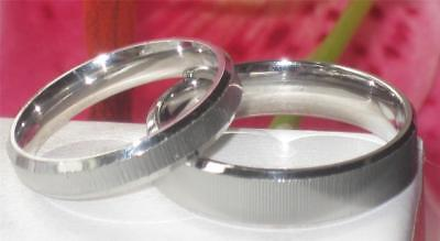 MENS WOMENS RING 5mm 3mm plain STAINLESS STEEL WEDDING RING BAND STR258 SILVER