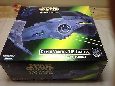 1996 Kenner Star Wars Power Of The Force Potf Darth Vader'S Tie Fighter