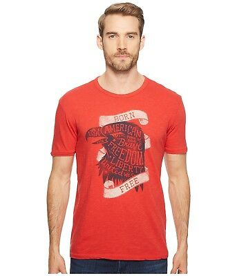 Lucky Brand American Born Free Home Of The Brave Liberty USA T-Shirt M