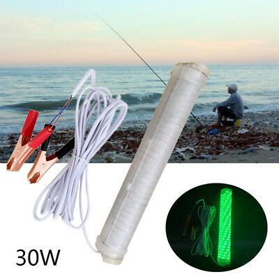 Green LED 150SMD 30W Submersible Underwater Night Fishing Light Boat Fish Lamp