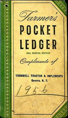 Vintage 1954 1955 John Deere Farmer's Pocket Ledger * Tractor Advertising