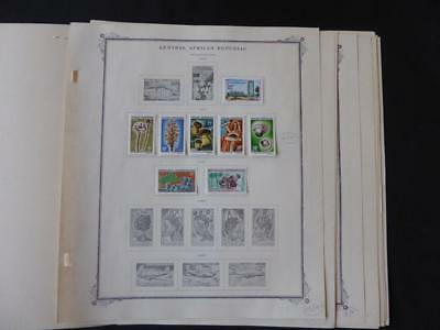 Central Africa 1959-1967 Mint Stamp Collection on Scott Specialty Album Pages