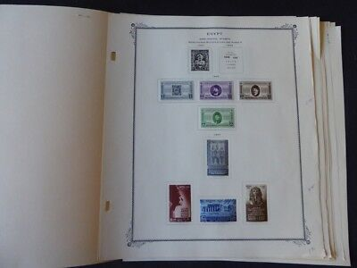 Egypt BOB 1957-1960 Mint/Used Stamp Collection on Scott Specialty Album Pages