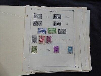 Middle East / Peru 1942-1963 Mint and Used Stamp Collection on Album Pages