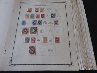 Armenia Extensive 1919-1922 Mint/Used on Scott Specialty Album Pages
