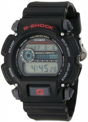 Casio DW90521VCFB Casio Mens DW9052-1V G-Shock Black Stainless Steel And Resin