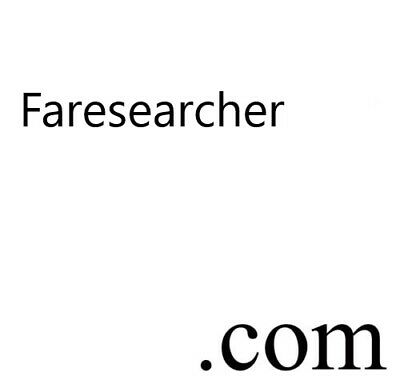 Faresearcher.com, Great Domain Name for Travel Website / Search Engine for Fares