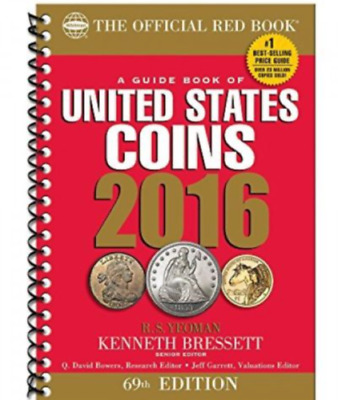2016 Red Book A Guide Book of U.S. Coins New Spiral Bound (FREE US SHIPPING!)