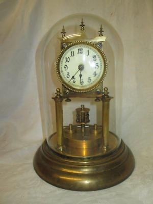 Gustav Becker Type German 400 Day Anniversary Disk Pendulum Torsion Clock c1920s