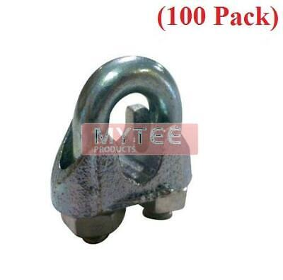 "(250 Pack) Malleable Wire Rope Clips 3/8"", Wire Rope Turn Back 9.50"""