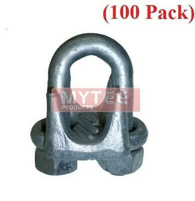 "(100 Pack) Forged Wire Rope Clips 3/16"", Wire Rope Turn Back 3.75"""