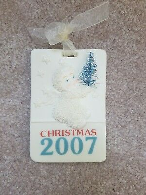 "Celebrate Christmas 2007 - Special Holiday Program ""Snowbabies"" Ornament"