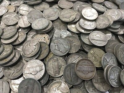 35% Silver War Nickels $1 Face Value Avg Circ - 20 Coins 5c