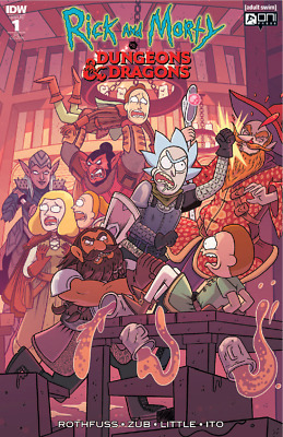 Rick and Morty #1 CK Elite Dungeons & Dragons Cover IDW Ltd to 1500 Comic