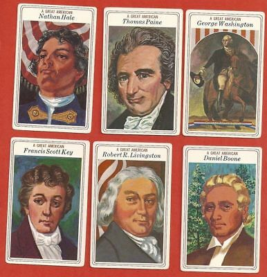 1975 Great American cards by Big Boy Restaurants  Lot of 8 Cards