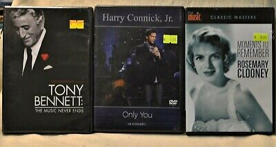 DVD Lot X3 Harry Connick Jr Rosemary Clooney Moments to Remember Tony Bennett