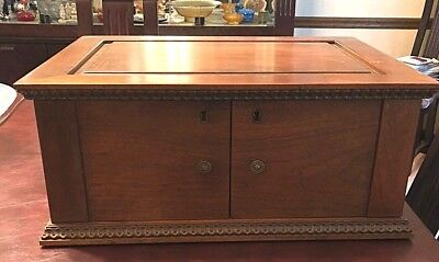 VINTAGE 5 Drawer MAHOGANY SILVER DOLLAR COIN COLLECTOR'S CABINET STORAGE CHEST